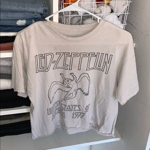 Brandy Melville Led Zeppelin Cropped Tee
